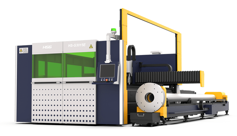 Sheet and Tube Laser Cutting Machine with Exchangeable Table GE Series